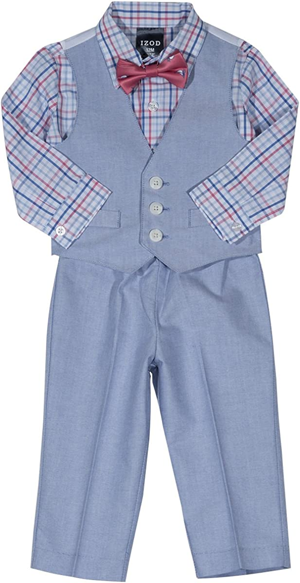 IZOD security Boys 4-Piece Set with Dress Shirt Bow Shorts Ves and Tie Credence