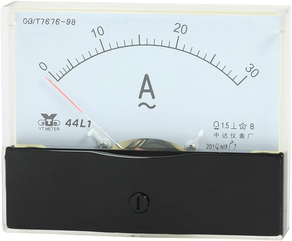 uxcell Panel Mount Analog Ammeter 0-30A AC Gauge Range In a Jacksonville Mall popularity Measuring