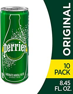 Perrier Carbonated Mineral Water, 8.45 fl oz. Slim Cans (10 Pack)