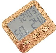 Digital Termómetro Higrómetro,Pantalla LCD Multifunción Medidor Electrónico de Temperatura y Humedad, Celsius o Fahrenheit, Colocado Vertical, Colgado o Adsorbidopara Dormitorio, Cocina, etc.