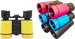 LUCKSTAR 4X30 Plastic Folding Binoculars Telescope, Gift Toy Binoculars Party Favors for Kids Outdoor (1 Set of 4 Pcs)