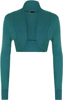 Momo&Ayat Fashions Ladies Long Sleeve Cotton Shrug Bolero Ribbed Collar AUS Size 8-14