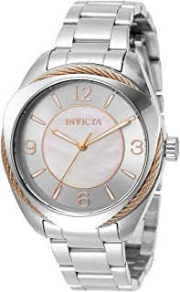 Invicta Women's Bolt Quartz Watch with Stainless Steel Strap, Silver, 18 (Model: 31217)