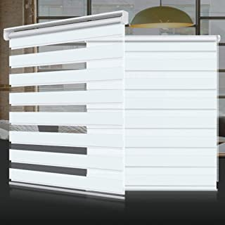 SEEYE Zebra Shade Blinds Horizontal Window Curtain Day and Night Blind Dual Layer Shades Easy to Install 21.7
