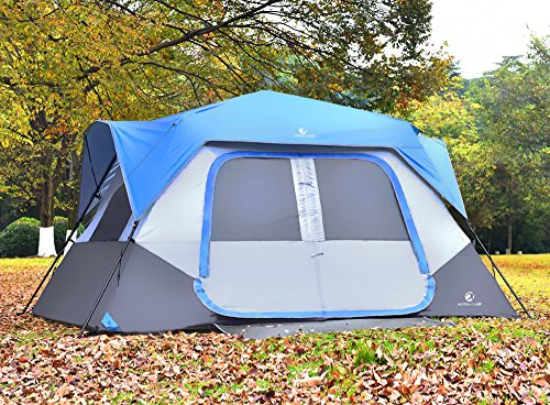 ALPHA CAMP 8 Person Instant Tent for Camping Easy Setup Cabin Tent with Foot Mud - 10' x 9' Blue