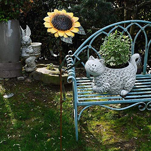 E-view Estacas de Metal para jardín con diseño de Girasol, estaca ...