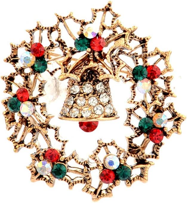 Underleaf Xmas Brooch Lapel Pin Personality Vintage Accessory Ornaments Christmas Gift