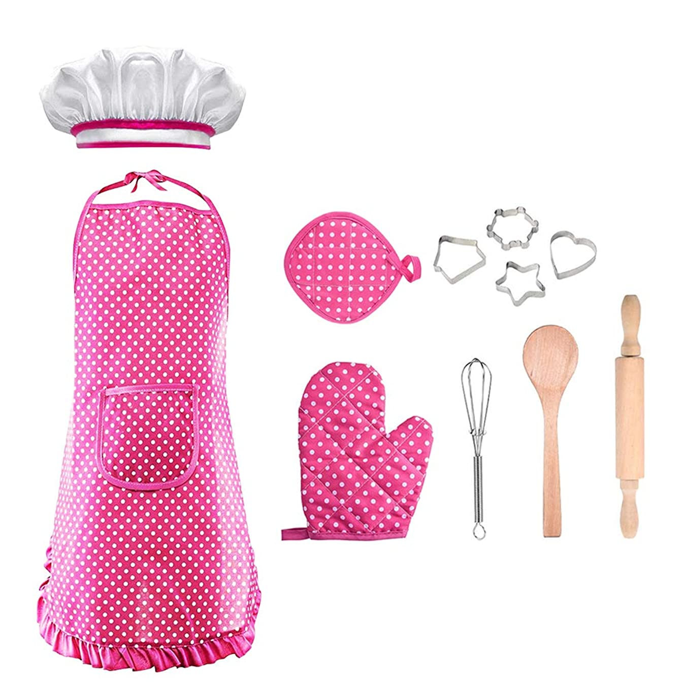 LET'S GO! DIMY Cooking and Baking Set Chef Costume Career Role Play for Kids - Best Gifts