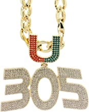 GH 305U New Season Gold Plated Men Jewelry Necklace Miami Turnover Chain, Fans Gift