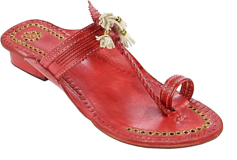 KOLHAPURI CHAPPAL Original Outstanding Designer's high Heel Cherry red fine Braids golden Rivets Ladies Slipper Sandal