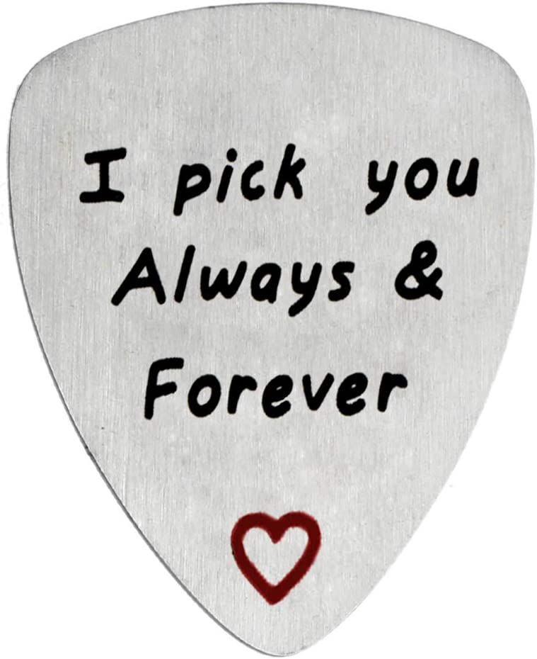 Guitar Pick Gift for Him Musician Gifts Valentines Day Gift Wedding Anniversary Gift for Men Birthday Gifts I Pick You Always /& Forever/