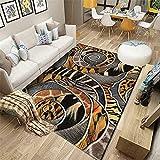 alfombras Pasillo Alfombra Amarilla, patrón de Piel Animal es fácil de Limpiar, Simple, rastreo, Alfombra antifatiga Alfombra de Pelo -Amarillo_180x200cm