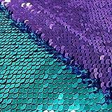 Pardecor Glitzernder Stoff Türkis bis Lavendel