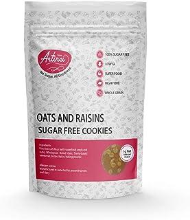 Artinci - No Sugar, All Goodness   Oats & Raisins Cookies   100% Sugar Free   Low GI   No Preservatives   195g