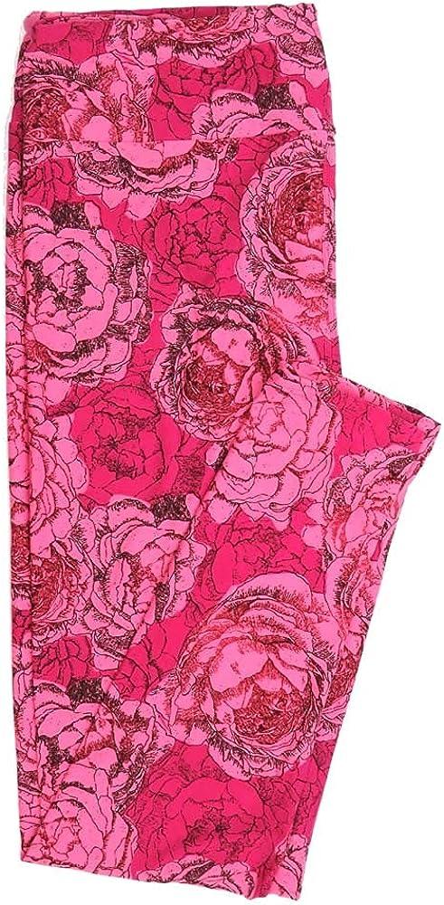Lularoe Tall Curvy TC Roses Buttery Soft Womens Leggings fits Adults Sizes 12-18 TC-7355-O