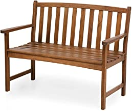 Plow & Hearth Lancaster Outdoor Furniture Collection Eucalyptus Wood Garden Bench