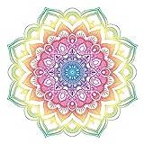 Adhesivo decorativo para pared, diseño de mandala, multicolor