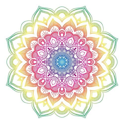 Colorido diseño de Mandala – Pegatina para Ordenador portátil, Coche, Nevera, Arte de Pared