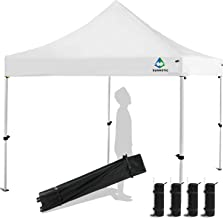 Sunnotic 10'x10' Pop Up Canopy Tent Outdoor Folding Camping Shade Canopy Tent Ez Up Portable Instant Pop Up Gazebo for Events Commercial Market with Roller Bag Bonus 4 Sandbags Weight
