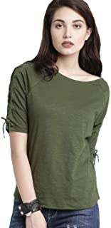 DHRUVI TRENDZ Women's Plain Lycra TOP