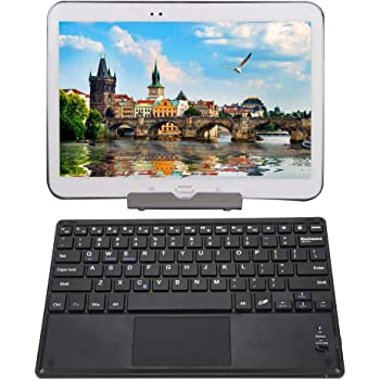 Bewinner Portable Bluetooth Keyboard,Ultra Slim Bluetooth Wireless Keyboard with Touchpad for Android//Windows//iOS,Scissors Feet Design Makes Keys Return Rapidly,Micro USB Interface