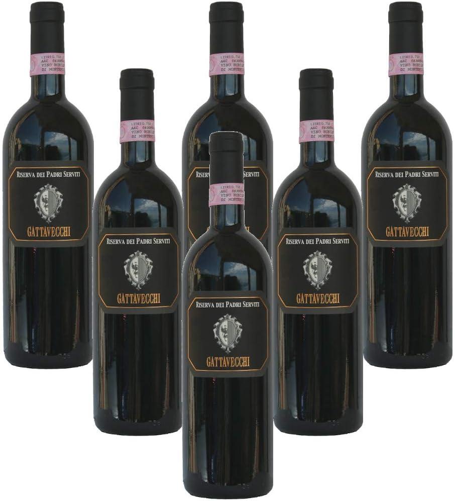 Riserva dei Padri Serviti Vino Nobile di Montepulciano Reserva Docg Cantina Gattavecchi Vino Tinto Italiano (6 botellas 75 cl.)