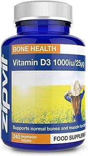 Vitamina D3 1000iu 25mcg. 240 Capsule. Supporta Le Ossa e Le Funzioni Muscolari. Supporta Il Sistema Immunitario