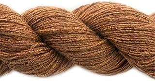 Lotus Yarns 50% Silk 50% Tibetan Yak Fingering Weight Hand Knitting/Crochet Yarn for Fashion Garments 5X50g Hanks (02-Butterscotch)