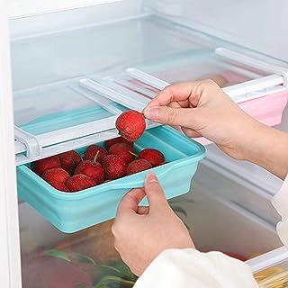Brillie Organisateur de tiroir de réfrigérateur, boîte de Rangement de réfrigérateur de Cuisine, Support de Rangement en P...