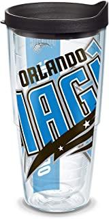 Tervis 1084635 NBA Orlando Magic Colossal Tumbler with Wrap and Black Lid 24oz، شفاف