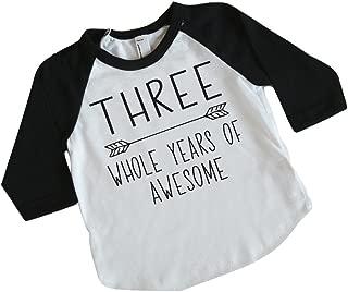 Bump and Beyond Designs Third Birthday Boy Outfit, 3rd Birthday Boy Shirt, Boy Clothes