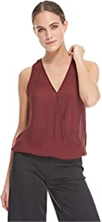 Stradivarius Wrap Tops For Women, Maroon S