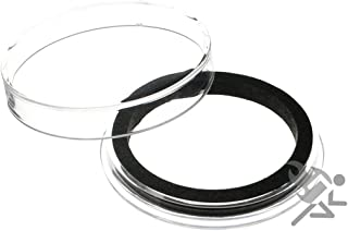 Air-Tite High Relief 40mm Black Ring Coin Capsules for 2oz Elemetal Coins, 25 Pack