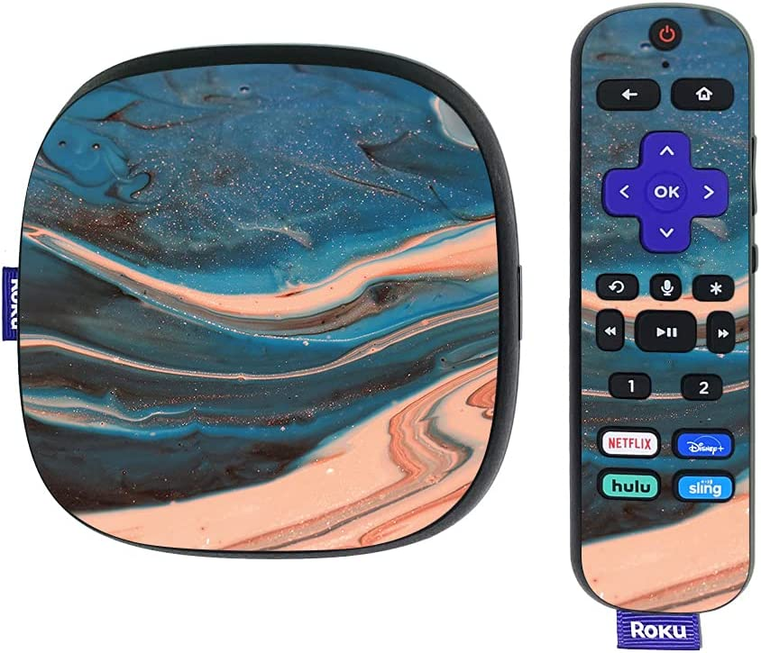 MightySkins Skin Compatible with Roku Ultra HDR 4K Streaming Media Player (2020) - Sea Dunes | Protective, Durable, and Unique Vinyl Decal wrap Cover | Easy to Apply | Made in The USA
