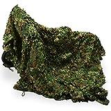 zerone - Red de camuflaje (2 x 3 m), color verde