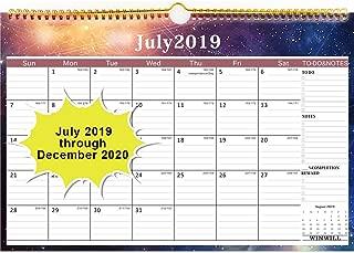 Wall Calendar 2019-2020 Academic Year Monthly Wall Calendar July 2019-2020 Wirebound 12