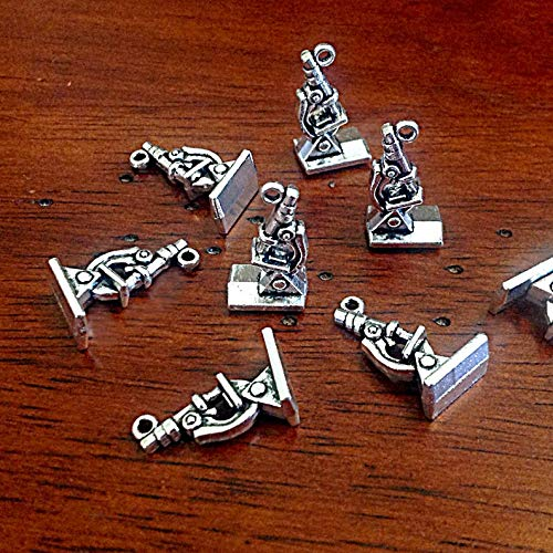 Bulk 15 Microscope Charms Medical Charms Lab Charms Chemistry Charms Science Charms Microscope Pendants Craft and Jewelry Supplies