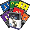 Stack 52 Resistance Band Exercise Cards. Exercise Band Workout Playing Card Game. Video Instructions Included. Home Fitness Training Program for Elastic Rubber Stretch Band Sets.