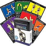 Stack 52 Widerstand-Band-Übungs-Karten Übungs-Band-Workout-Spielkarten-Spiel. Video-Anweisungen...
