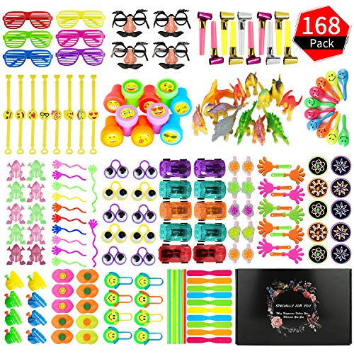 Party Prize,Party Favor for Kids Toy Assortment, ZOYJITU 168PCS Treasure Box Prizes for Classroom,Birthday Party, Kids Birthday Party Favors for Goodie Bag Fillers, Assorted Pinata Fillers