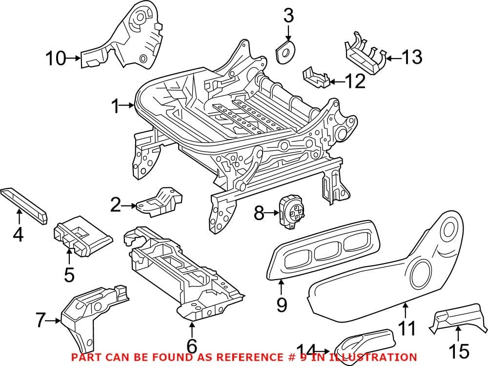 Genuine OEM Power 2021 spring and summer new Seat Switch Mercedes 1769191700 Virginia Beach Mall for Bezel