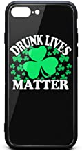 Phone Case for iPhone 7 Plus/8 Plus Drunk Lives Matter St Patricks TPU Gel Protective Cool Anti-Scratch Fashionable Glossy Anti Slip Thin Shockproof Soft