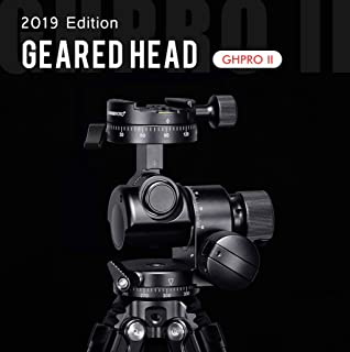 SUNWAYFOTO Tripod Geared Head Panoramic 4-Way Head with Quick Release Plate for Gitozo Manfrotto Benno Tripod