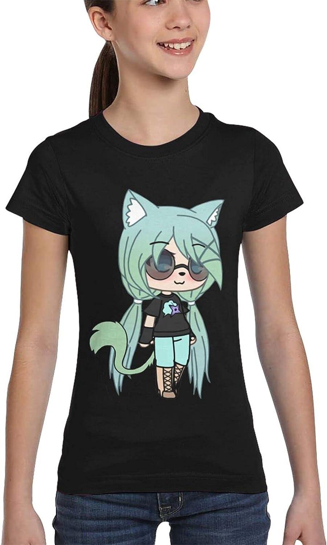 LIUZHUQIN Gacha Life 3D Printing Girls Fashion Short-Sleeved Full-Width T-Shirt Full Print