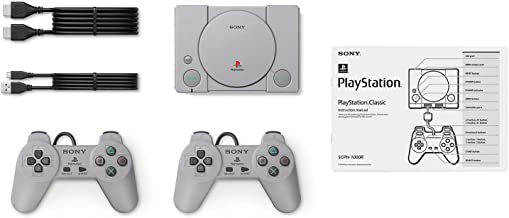 $44 » Playstation Classic Console with 20 Classic Playstation Games Pre-Installed Holiday Bundle, Includes Final Fantasy VII, Grand Theft Auto, Resident Evil Director's Cut and More