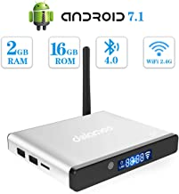 Android 7.1 TV Box Dolamee D7 Android Box Amlogic S905 Quad Core 2GB RAM 16GB ROM Built-in WiFi and Bluetooth 4.0 for 4K UHD Playing