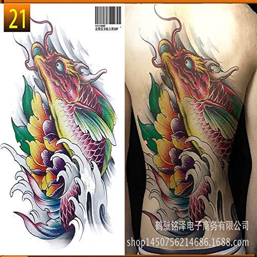tzxdbh Etiqueta engomada del Tatuaje 2Pcs-Full Nuevo Impermeable ...