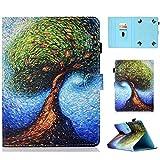 RLTech Hülle für Archos Core 80 WiFi, Ultra Schlank Schutzhülle Etui mit Standfunktion Smart Hülle Cover für 8 Zoll Tablets Einschließlich Archos Core 80 WiFi, Baum
