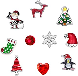 ShinyJewelry Christmas Floating Charms for Glass Living Memory Lockets Necklace & Bracelets