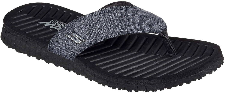 Skechers Men's GO FLEX Southbay Flip-Flop,Black,US 12 M B06X6L59Y7  | Niedrige Kosten